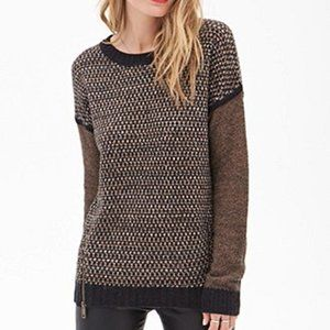 Forever 21 XS Sweater Camel Brown Wool Chunky Knit